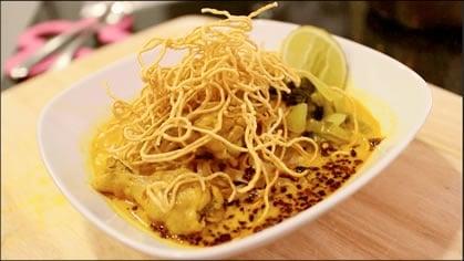 Curry Noodle Soup ข้าวซอย (kao soi)