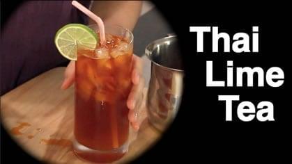 Thai lime iced tea