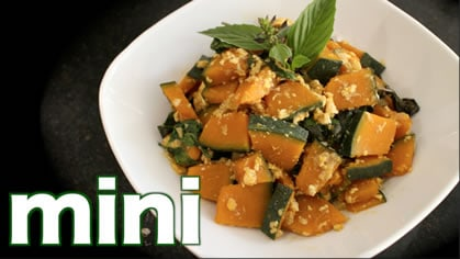 Kabocha stir fry mini