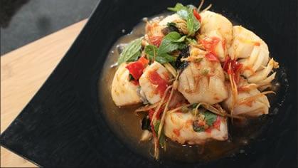 Fish and Herbs Stir-Fry ผัดฉ่าปลา (pad cha pla)