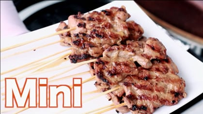 BBQ Pork Skewers (mini) moo ping