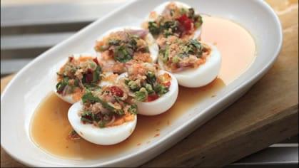 Spicy Thai Egg Salad ยำไข่ต้ม (yum kai tom)