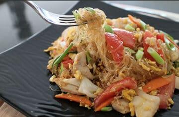 Pad woon sen, Thai glass noodle stir fryn sen