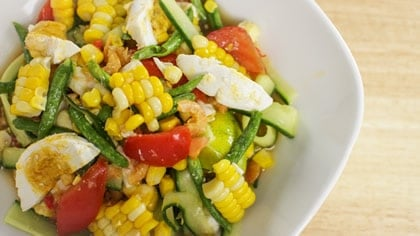 Corn Cucumber Salad ตำแตงข้าวโพด (tum tang kao poad)