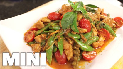 Chicken Red Curry Stir-Fry  (mini) pad ped gai