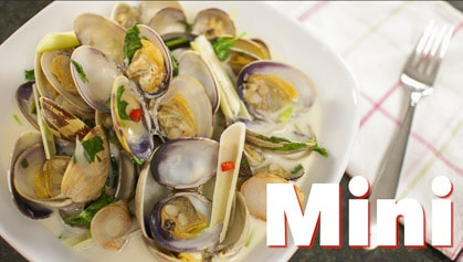 Coconut Lemongrass Clams (mini) hoi lai tom ka