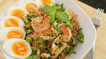Wing Bean Salad ยำถั่วพู (Yum Tuapu)