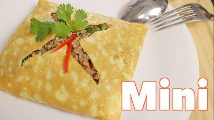 Stuffed Omelette (mini) kai yud sai