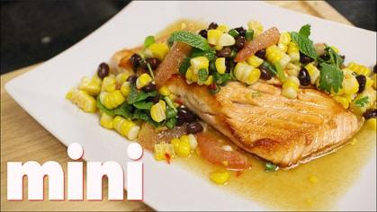 Salmon with Corn & Bean Salsa (mini)