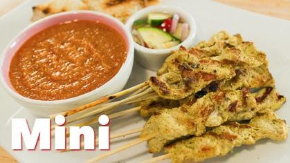 Satay & Peanut Sauce (mini) moo satay