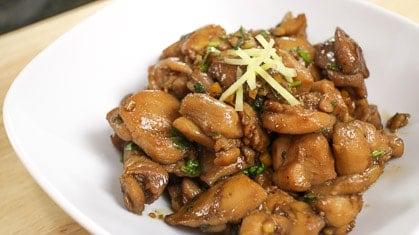 Ginger Soy Chicken ไก่เค็ม (gai kem)