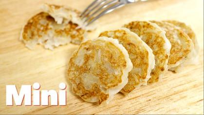 Chewy Banana Coconut Pancakes (mini) pang jee