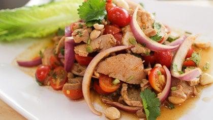 Roast pork salad