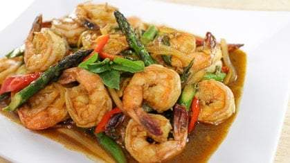 shrimp chili paste stir fry