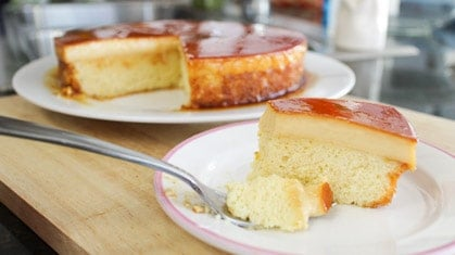 Caramel Custard Cake คาราเมลคัสตาร์ดเค้ก