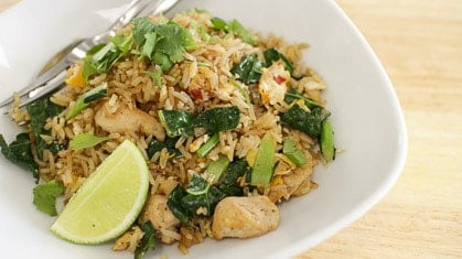 Chicken & Kale Fried Rice ข้าวผัดไก่