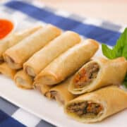 Green curry spring rolls