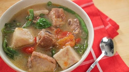 Filipino Pork Sinigang Recipe Video Pai S Kitchen