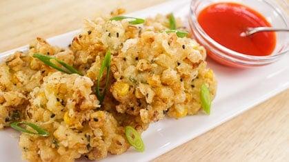 Corn Fritters ทอดมันข้าวโพด