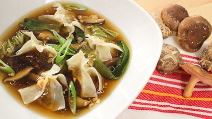 Mushroon Wonton Soup with Campbell's เกี้ยวเห็ดมังสวิรัติ
