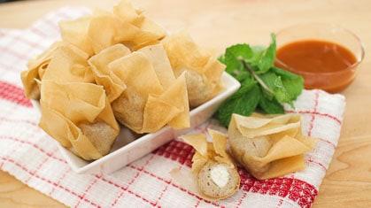 Crispy Chicken & Cheese Purses Recipe ถุงทองไก่ชีส