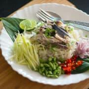 Mackerel fried rice