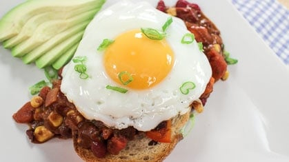 veg chili egg