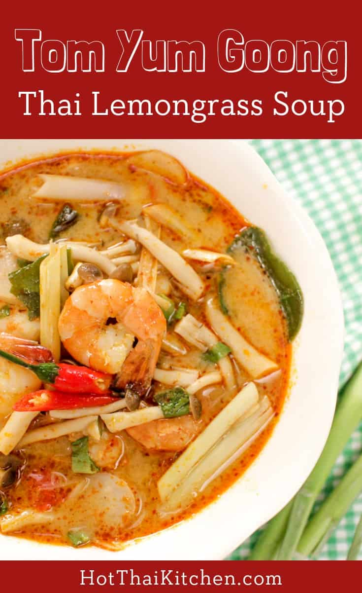 Authentic recipe for the classic Thai soup: Tom Yum with shrimp. It's easy yet full of bold flavours. Check out the vegetarian version on my website too! #tomyum #thaifood #thairecipes #soup #shrimp