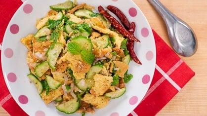 omelette salad