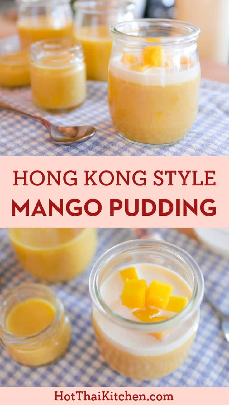 Must-try for mango fans! A classic dim sum dessert, this Hong Kong style pudding is fully loaded with sweet ripe mango. Luscious, fruity, and oh so easy! And it's gluten free! #summerdessert #mangopudding #nobake #glutenfree
