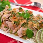 Garlic lime pork