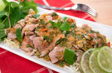 Garlic lime pork
