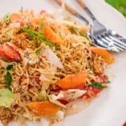 instant noodle stir-fry