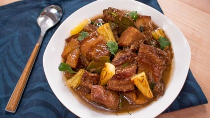 filipino pork adobo with pineapple