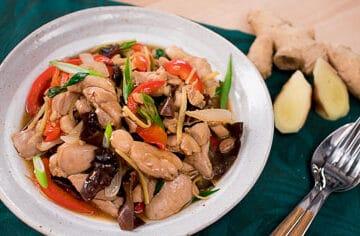 Thai ginger chicken stir fry