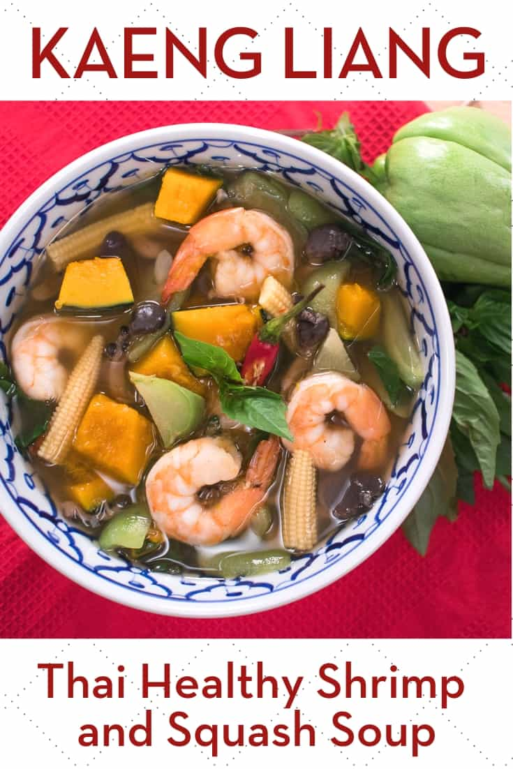 Healthy and yummy soup that is believed to increase breast milk supply in Thai culture, but anyone can enjoy it at any time. The peppery soup is full of vegetables—a mix of winter squash, summer squash, mushrooms. Add some shrimp or chicken as a protein and you're good to go! #thairecipe #thaisoup #glutenfree #vegetablesoup #breastmilk
