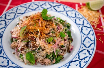 Laab woonsen Thai glass noodle salad