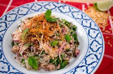 Laab woonsen Thai glass noodle salad