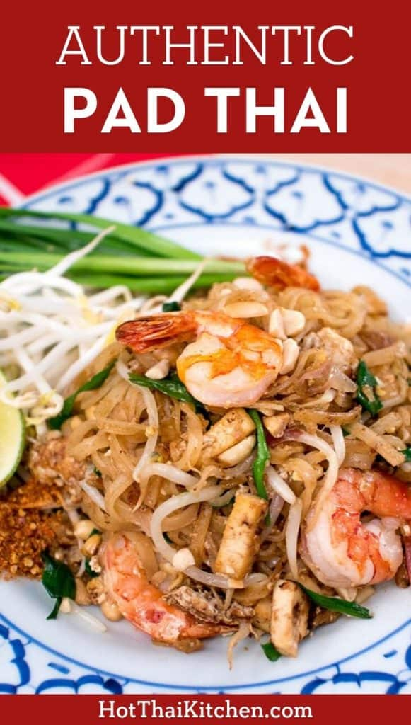 This is pad thai at its best. This recipe is the most authentic, unadulterated version, just like the best pad thai in Thailand. #padthai #thaifood #glutenfree
