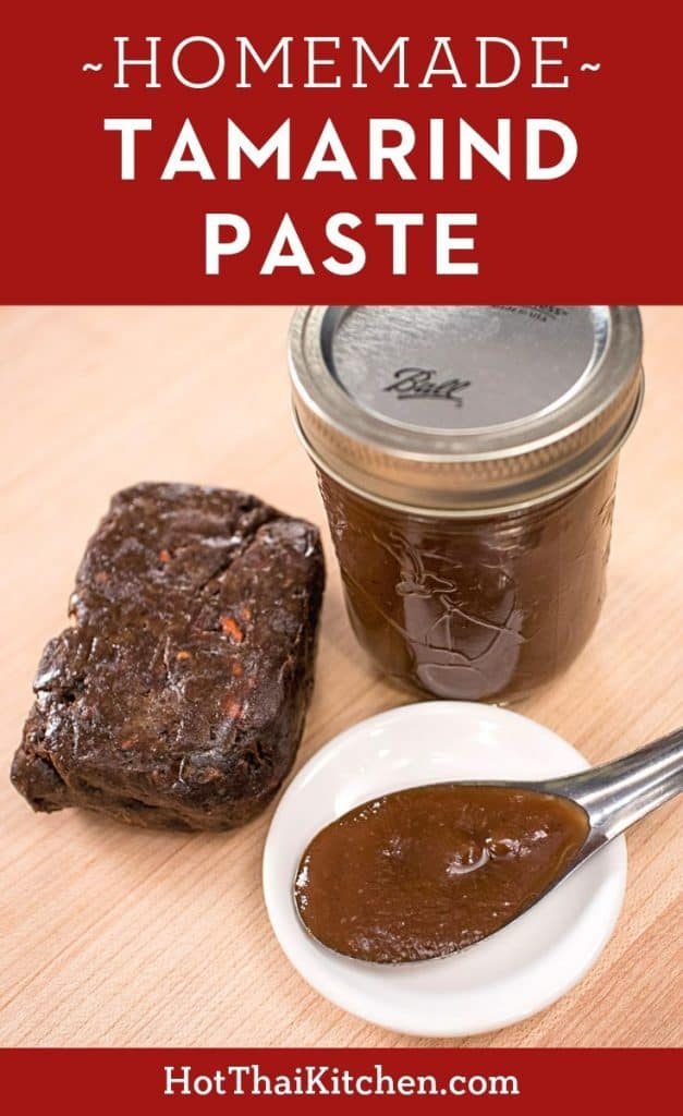 Making your own tamarind paste from pulp for Thai cooking is super easy. This video shows you how!  #thaicooking #tamarind #tamarindpaste #thaifood