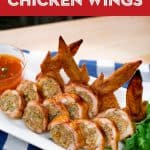 A plate of stuffed chicken wings
