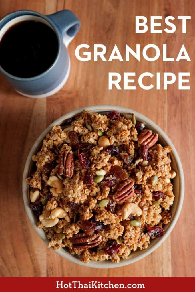 My BEST granola recipe I've been making for years! Perfect during lockdown, or any time! #granola #lockdownrecipe